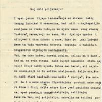 Pismo Ljudevitu Slović